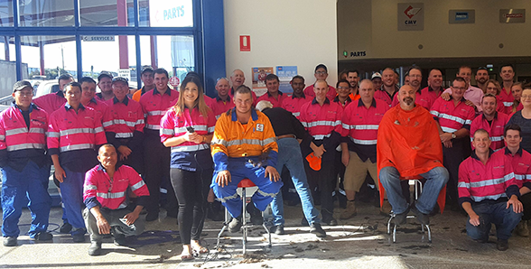 Kenworth DAF Adelaide support the Leukemia Foundation World's Greatest Shave