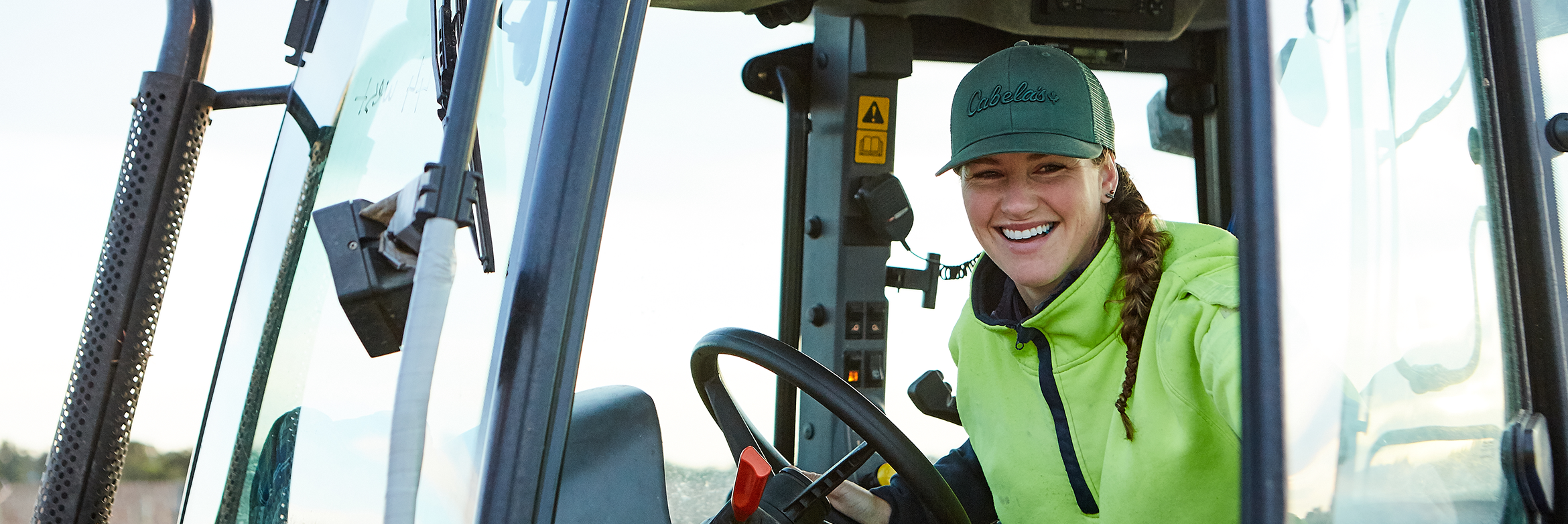 CMV Farms employee on tractor - CMV Group