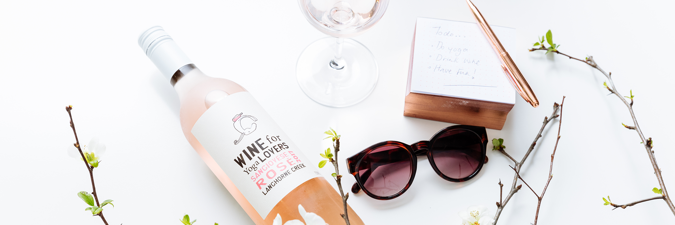 Wine for Yoga Lovers rose