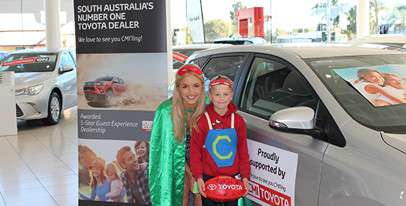 Olivia Rogers at CMI Toyota for the Captain Courageous Foundation